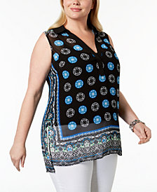 I.N.C. Plus Size High-Low Tunic, Created for Macy's