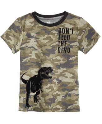 Little Boys Camo Dino-Print T-Shirt, Created for Macy's