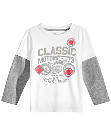 Epic Threads Toddler Boys Graphic-Print Faux-Layer Long-Sleeve T-Shirt, Created for Macy's