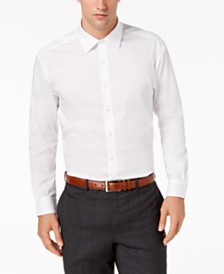AlfaTech by Alfani Men's Solid Athletic Fit French Cuff Dress Shirt, Created For Macy's