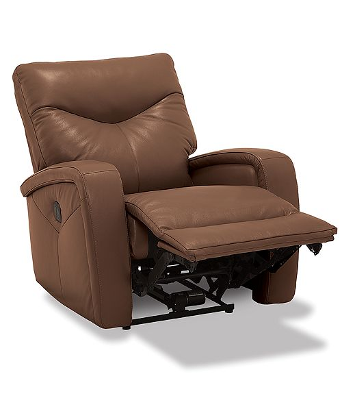 Furniture Erith Leather Lay Flat Power Recliner