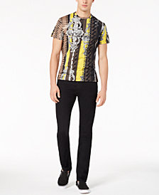 Versace Men's Graphic-Print T-Shirt & Black Denim Jeans Separates