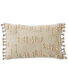 "CLOSEOUT! Clip Tie Embroidered 16"" x 24"" Decorative Pillow, Created for Macy's"