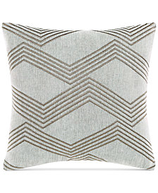 "Charisma Emporio Embroidered 18"" Square Decorative Pillow"