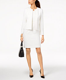 Kasper Embellished Flyaway Blazer & Sheath Dress