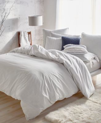 Pure Eco Cotton 200-Thread Count Reversible Chambray King Duvet Cover
