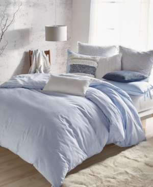 Image of Dkny Pure Eco Cotton 200-Thread Count Reversible Chambray King Duvet Cover Bedding