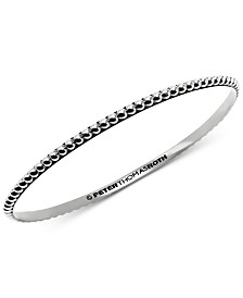 Peter Thomas Roth Beaded Bangle Bracelet in Sterling Silver