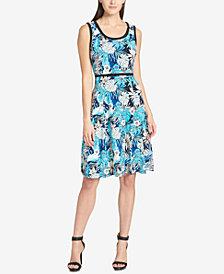 Tommy Hilfiger Floral-Print Matte Jersey Dress