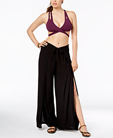 Becca Tie-Front Cover-Up Pants