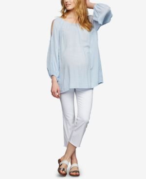 Image of A Pea in the Pod Maternity Cropped Boot-Cut Jeans