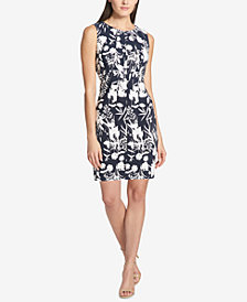 Tommy Hilfiger Floral-Print Scuba Dress