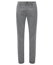 BOSS Men's Regular/Classic-Fit Brushed Chino Pants