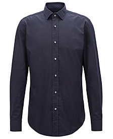 BOSS Men's Slim-Fit Cotton Poplin Shirt