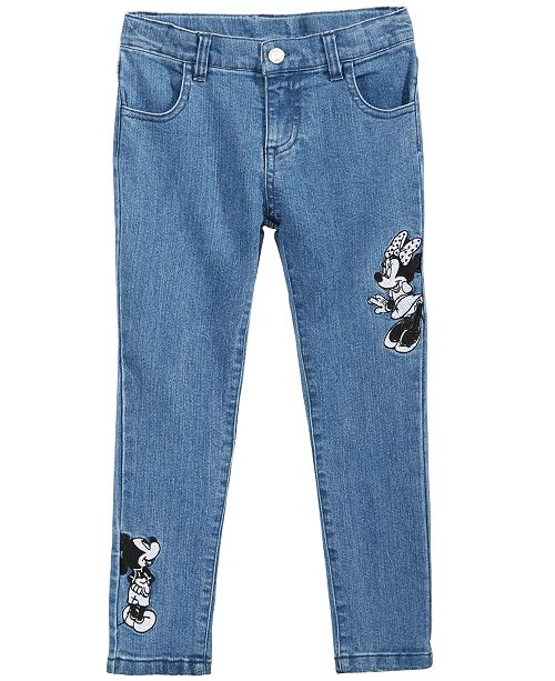 4bd1315c7e9 ... Disney Toddler Girls Minnie   Mickey Mouse Embroidered Jeans ...