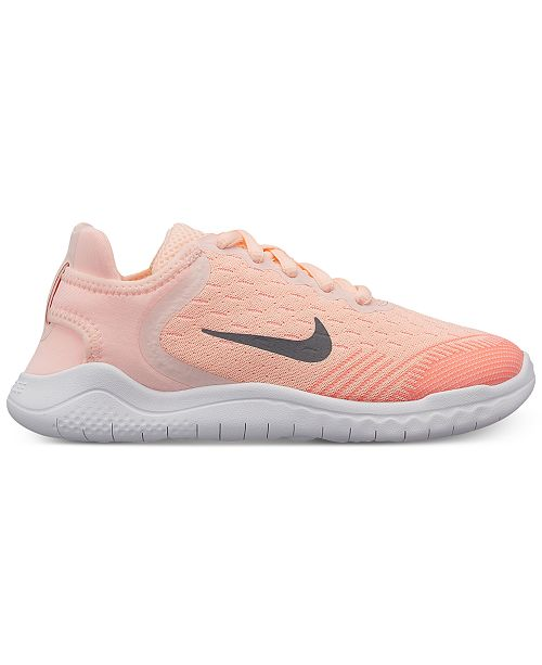 quality design 329b3 322d8 ... Nike Little Girls  Free RN 2018 Running Sneakers from Finish ...