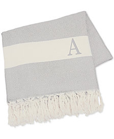"""Cathy's Concepts Personalized Grey Turkish 50"""" x 60"""" Throw"""