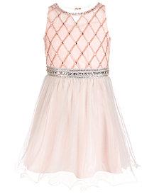 Us Angels Big Girls Beaded Chiffon Dress