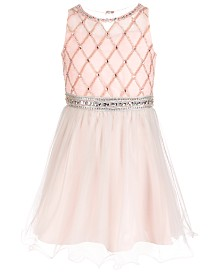 Us Angels Big Girls Beaded Chiffon Dress