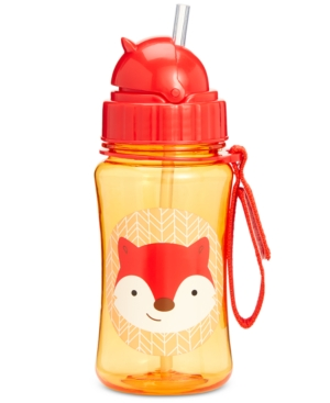 Skip Hop Fox Zoo Straw Water Bottle In Multi
