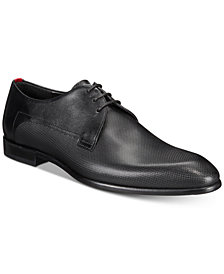HUGO Men's Dress Appeal Derby Textured Leather Shoes