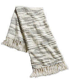 "Oxford Collection 50"" x 60"" Modern Stripe Throw, Created for Macy's"
