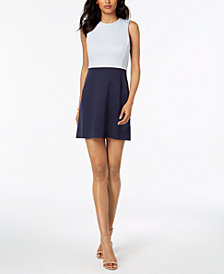 French Connection Sleeveless Colorblocked Dress