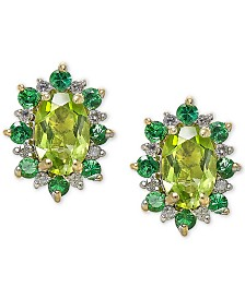 Multi-Gemstone (1-5/8 ct. t.w.) & Diamond Accent Earrings in 14k Gold
