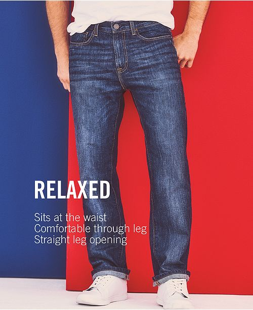4caab4c3 Tommy Hilfiger Men's Core Jeans, Created for Macy's , Varsity Freedom  Relaxed Fit Jeans, ...