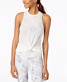 Material Girl Active Juniors' Burnout Tank Top, Created for Macy's