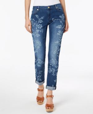 Michael Michael Kors Floral-Print Cropped Jeans In Regular & Petite Sizes 6526016