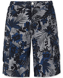 "A|X Armani Exchange Men's Leaf Print Cargo 9"" Inseam Shorts"