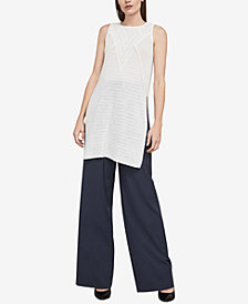 BCBGMAXAZRIA Jocelyn Cotton Vented Knit Tunic