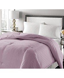 Luxury Damask Stripe Feather & Down King Comforter