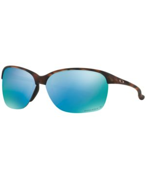 OAKLEY Polarized Sunglasses, Unstoppable Oo9191 in Matte Brown Tortoise/Prizm Deep H2O Polarized