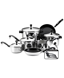 Classic Stainless Steel 15-Pc. Cookware Set