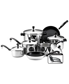 Farberware Classic Stainless Steel 15-Pc. Cookware Set