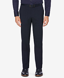 Perry Ellis Portfolio Men's Slim-Fit Stretch Large Plaid Dress Pants