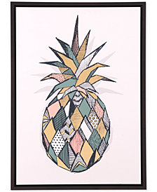 Zuo Pineapple Multicolor Canvas Print