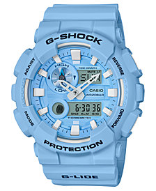 G-Shock Men's Analog-Digital Light Blue Resin Strap Watch 51.2mm