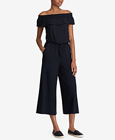 Lauren Ralph Lauren Ruffled Off-The-Shoulder Jumpsuit