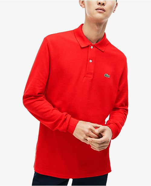 d6d0a9729 Lacoste Men s Long Sleeve Pique Polo  Lacoste Men s Long Sleeve Pique ...