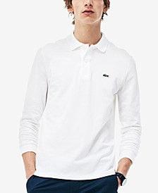 Men's Long Sleeve Pique Polo