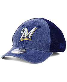 New Era Boys' Milwaukee Brewers Jr Hooge Neo 39THIRTY Cap