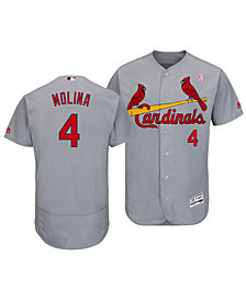 Majestic Men's Yadier Molina St. Louis Cardinals Mother's Day Flexbase Jersey