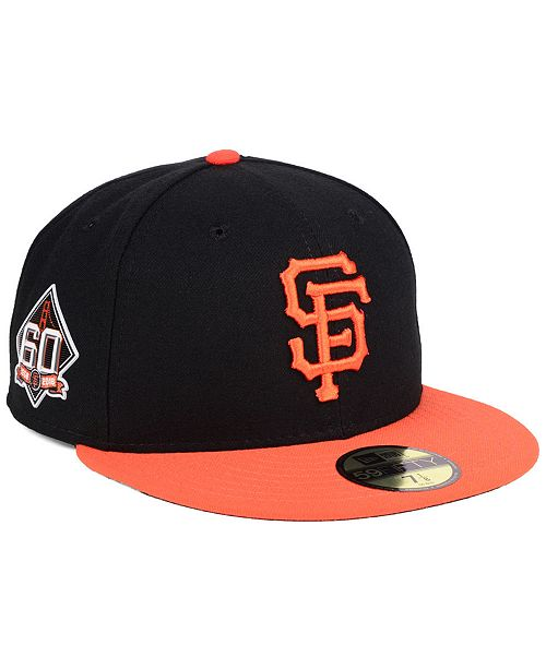 ... New Era San Francisco Giants Authentic Collection 60th Anniversary  59FIFTY Cap ... d474faa177f6