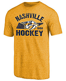Majestic Men's Nashville Predators Tri Blend Team Logo T-Shirt