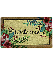 "Bacova Floral Welcome 18"" x 30"" Doormat"