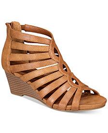 White Mountain Victoria Strappy Wedge Sandals