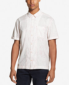DKNY Men's Printed Dot Camp Shirt